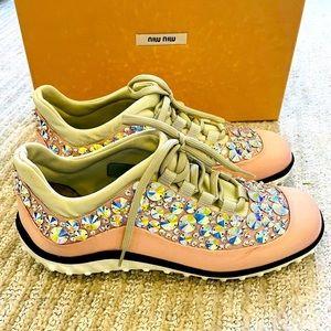 Miu Miu Jewelled Sneakers